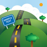 Road vector illustration Stock Photos