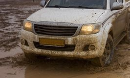 Road vehicle. In the steppes of southern Kazakhstan Royalty Free Stock Images