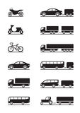 Road vehicles icons stock illustration