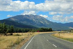 Road in the Wairau Valley Stock Images