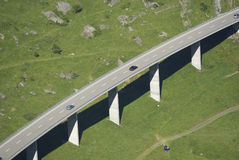 Road Viaduct. In alpine region of Switzerland Royalty Free Stock Images