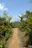 Road in vietnamese mountains. Road in mountains of North Vietnam royalty free stock photos