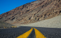 Road view in Death Valley National Park Stock Images