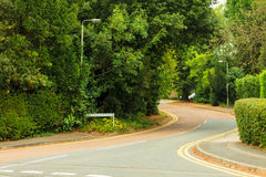 Road view in an english town Stock Photography
