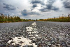 On the road. View of outdoor road. On the road, away from civilization and the city. View of outdoor road royalty free stock photo