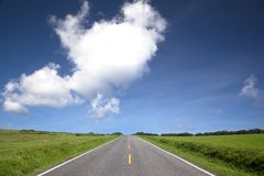 Road view of summer time Royalty Free Stock Photography