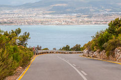 Road from viewpoint at Steenbras Dam pump station Stock Photography