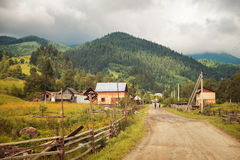 Road in the village Stock Photography