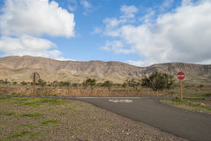 Road in volcanic landscape Royalty Free Stock Photography