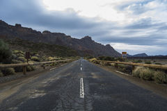 Road in volcanic landscape Royalty Free Stock Image