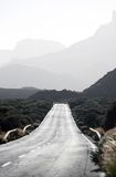 Road in volcanic mountains Stock Image