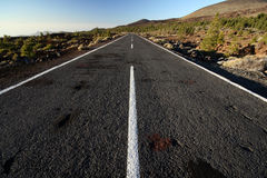 Road on a volcano Royalty Free Stock Photo