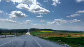 On the road. Voyage travel natural nature sky view Stock Images