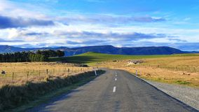 Road in Waitaki Valley, New Zealand Royalty Free Stock Images
