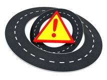 Road warning Royalty Free Stock Photography