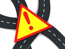 Road warning Royalty Free Stock Photography