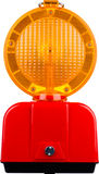 Road warning light Royalty Free Stock Photography