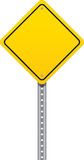 Road Warning Sign. Yellow traffic signal with a white background Stock Photography
