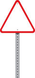 Road Warning Sign. Red traffic signal with a white background Stock Photography