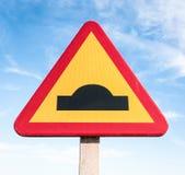 Road warning sign Stock Photography