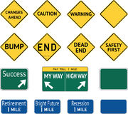 Road Warning Sign Messages Stock Photography