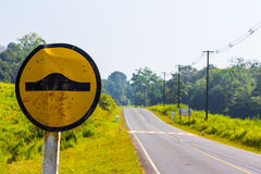 Road warning sign Royalty Free Stock Images