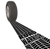 Road Warrior Tire Track Words Traveling Salesman Business Work T Stock Image