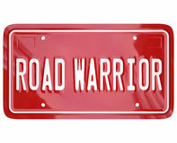Road Warrior Words License Plate Business Traveler Salesperson Stock Image