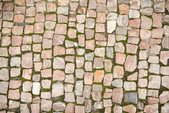 Road was paved with stone Royalty Free Stock Images