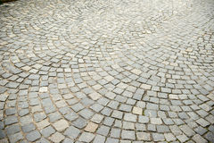 Road was paved with stone Stock Images