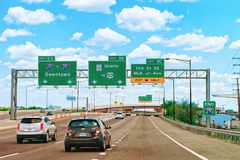 Road in Washington DC. Washington DC, USA - May 3, 2015: Road in Washington DC, America. Focus in motion stock photography