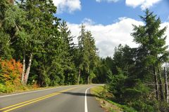 On the Road in Washington state Stock Photo