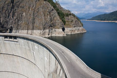Road on water dam Stock Photography