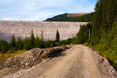 Road and water dam Royalty Free Stock Images