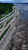 Road along the St. Lawrence River in Quebec City royalty free stock photo