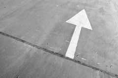 Road, with white arrow Royalty Free Stock Photo