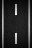 Road with white stripe. Black Road with white stripe Stock Images