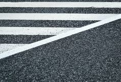 Road with white stripes Stock Image