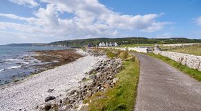 Road on Rathlin Island, Antrim, Northern Ireland Stock Images