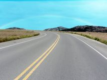 Road in the Wichita Mountains Stock Image