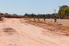 Road Widening Construction Improvements. For traffic volumes increasing stock photos