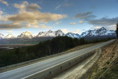 Road through the wilds of Tierra del Fuego Stock Photography