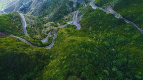 Road winding in mountains stock video