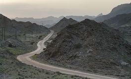 Road winding in mountains Oman Royalty Free Stock Photography