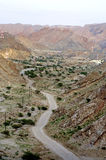road winding in mountains Oman Stock Image