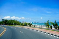 Road. A winding road to the sea Royalty Free Stock Photos