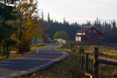 Road winding  from Transilvanya Stock Images