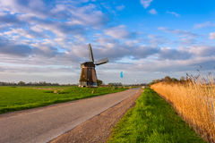 Road and Windmill Royalty Free Stock Photo