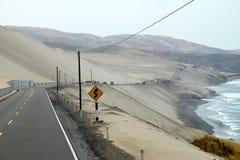 Road winds its way along the coast stock photo