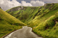 The road at Winnats Pass royalty free stock photo